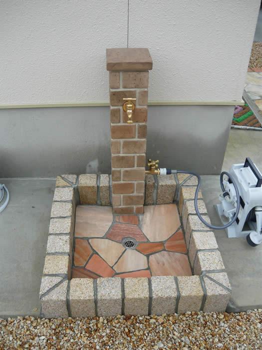 「立水栓 水受け レンガ」の画像検索結果